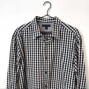 Banana Republic black check dress shirt